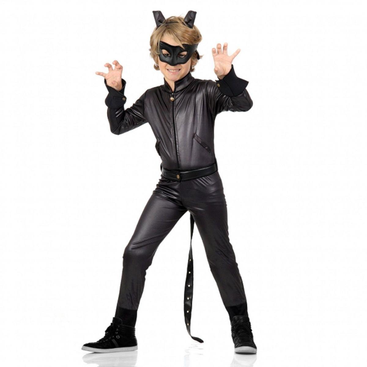 Fantasia Cat Noir Infantil Luxo