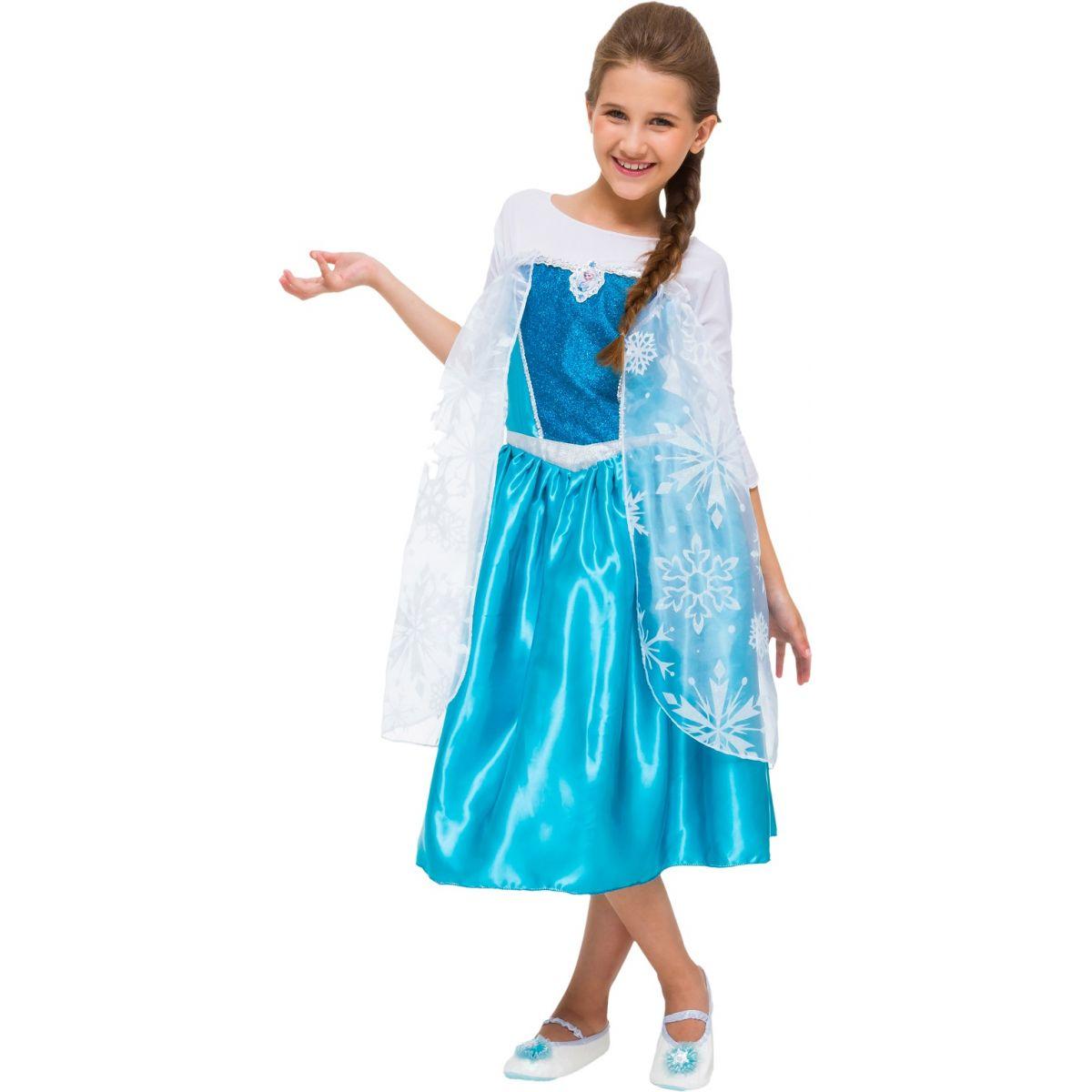 Fantasia Elsa Frozen Infantil Luxo com Capa Princesa Disney