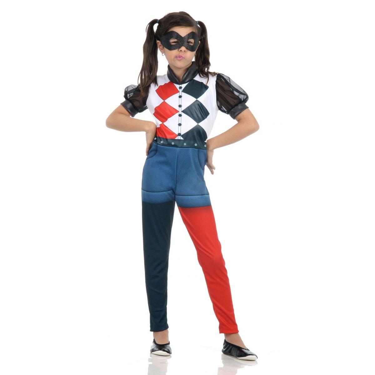Fantasia Arlequina Infantil DC Super Hero Girls