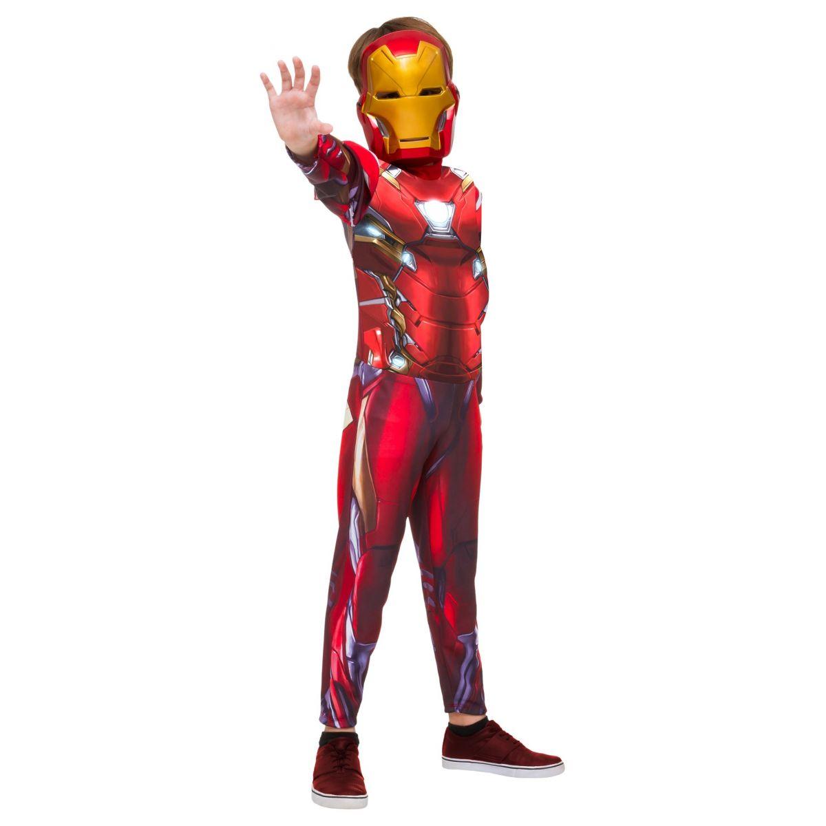 Fantasia Homem de Ferro Infantil Longa