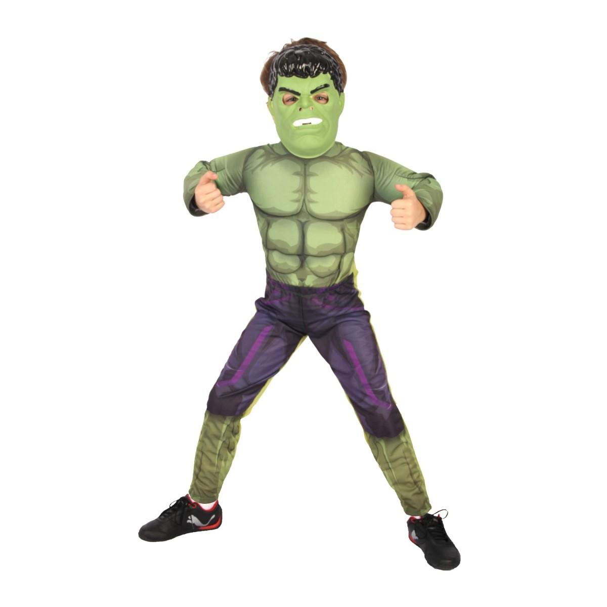 Fantasia Hulk Infantil Luxo