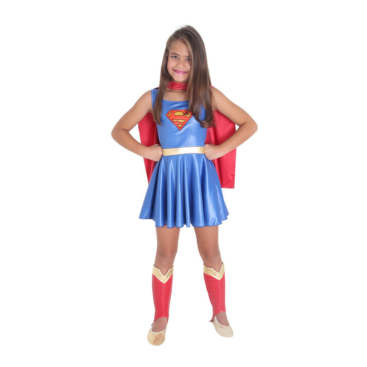 Fantasia Super Mulher Infantil