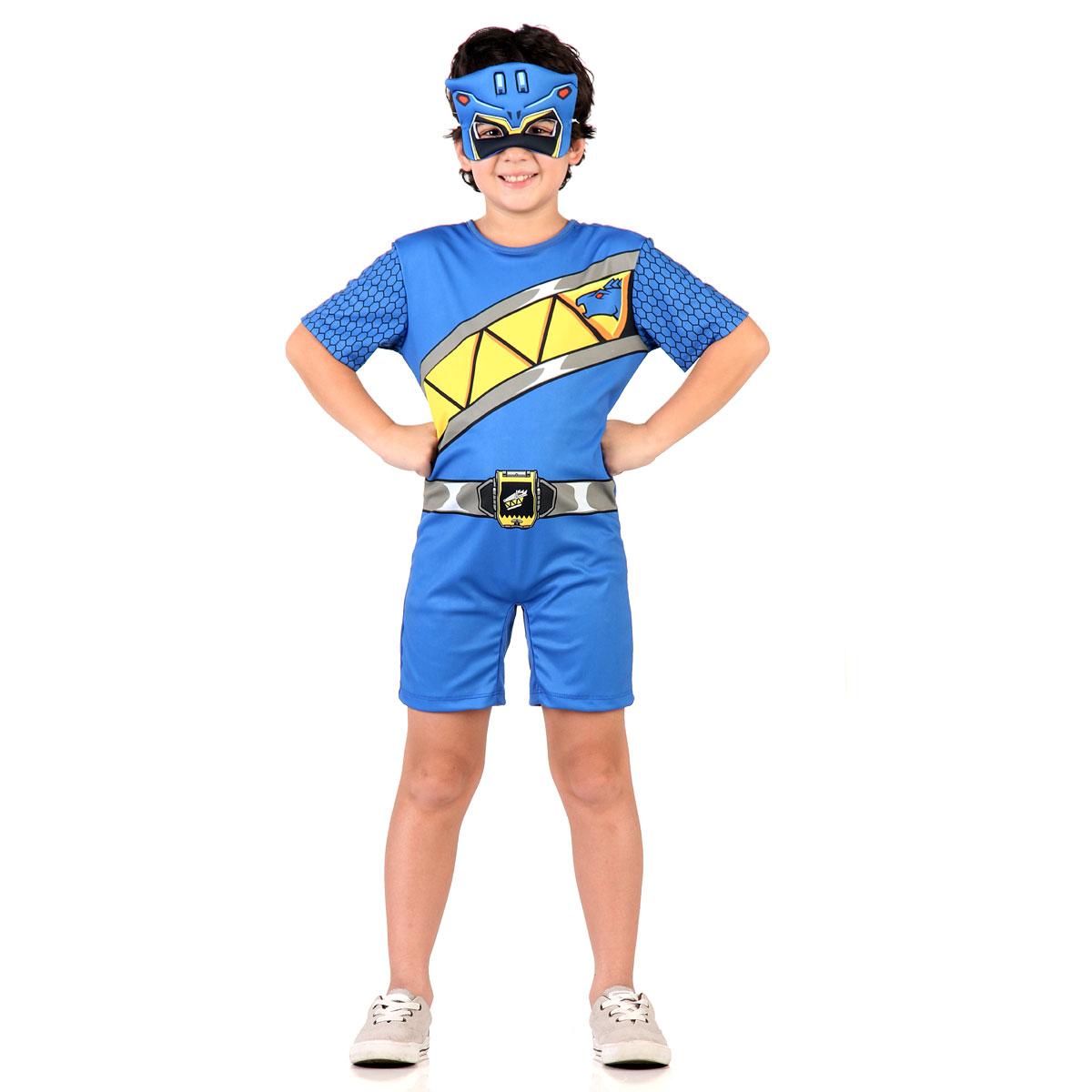 Fantasia Power Rangers Azul Infantil