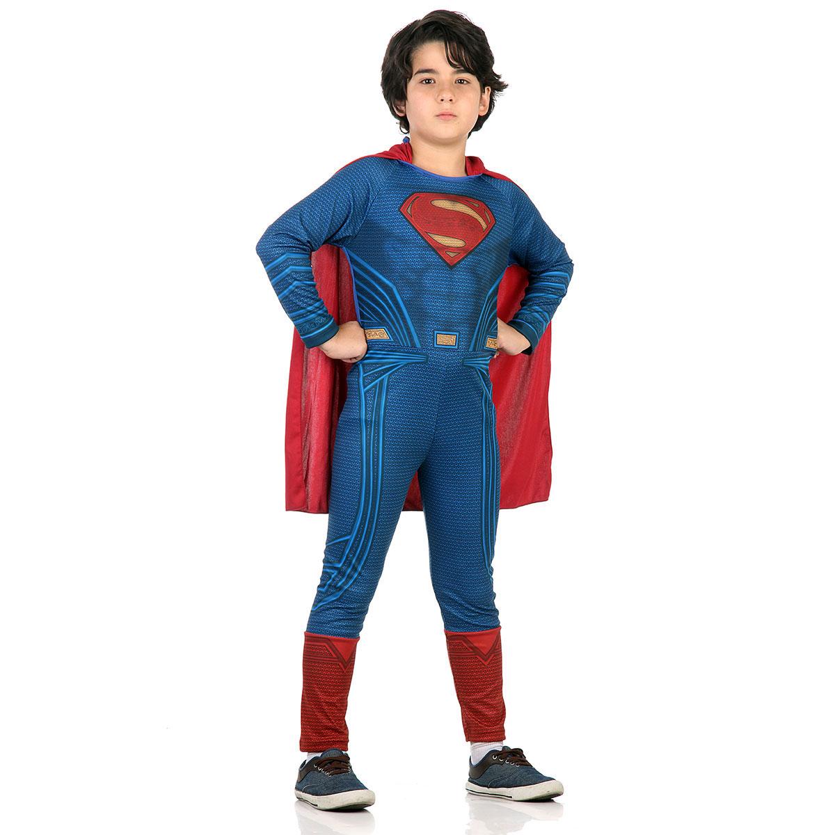Fantasia Super Homem Infantil Longa