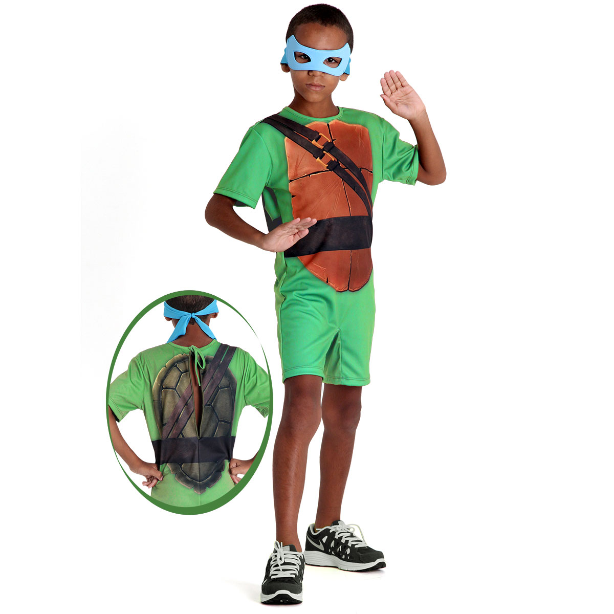 Fantasia Tartaruga Ninja Leonardo Infantil