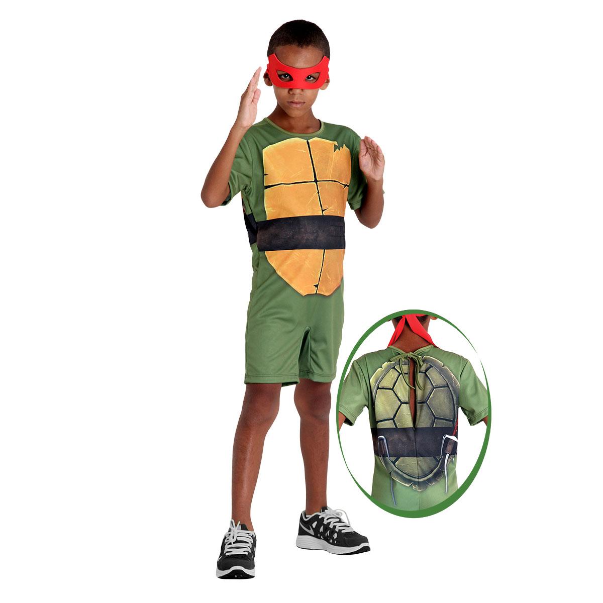 Fantasia Tartaruga Ninja Raphael Infantil