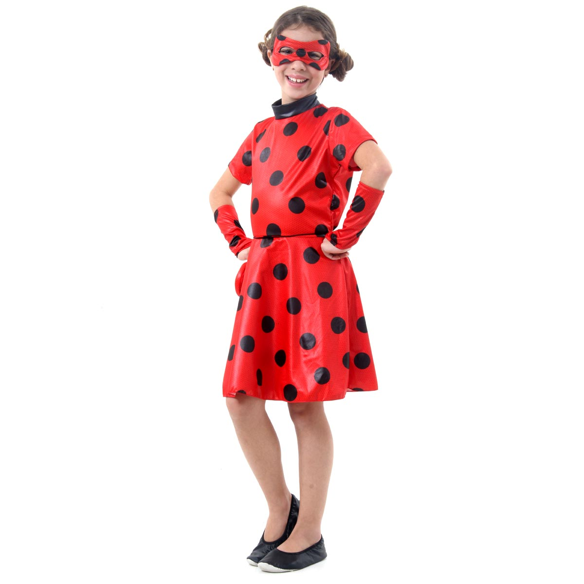 Fantasia Ladybug Infantil Vestido