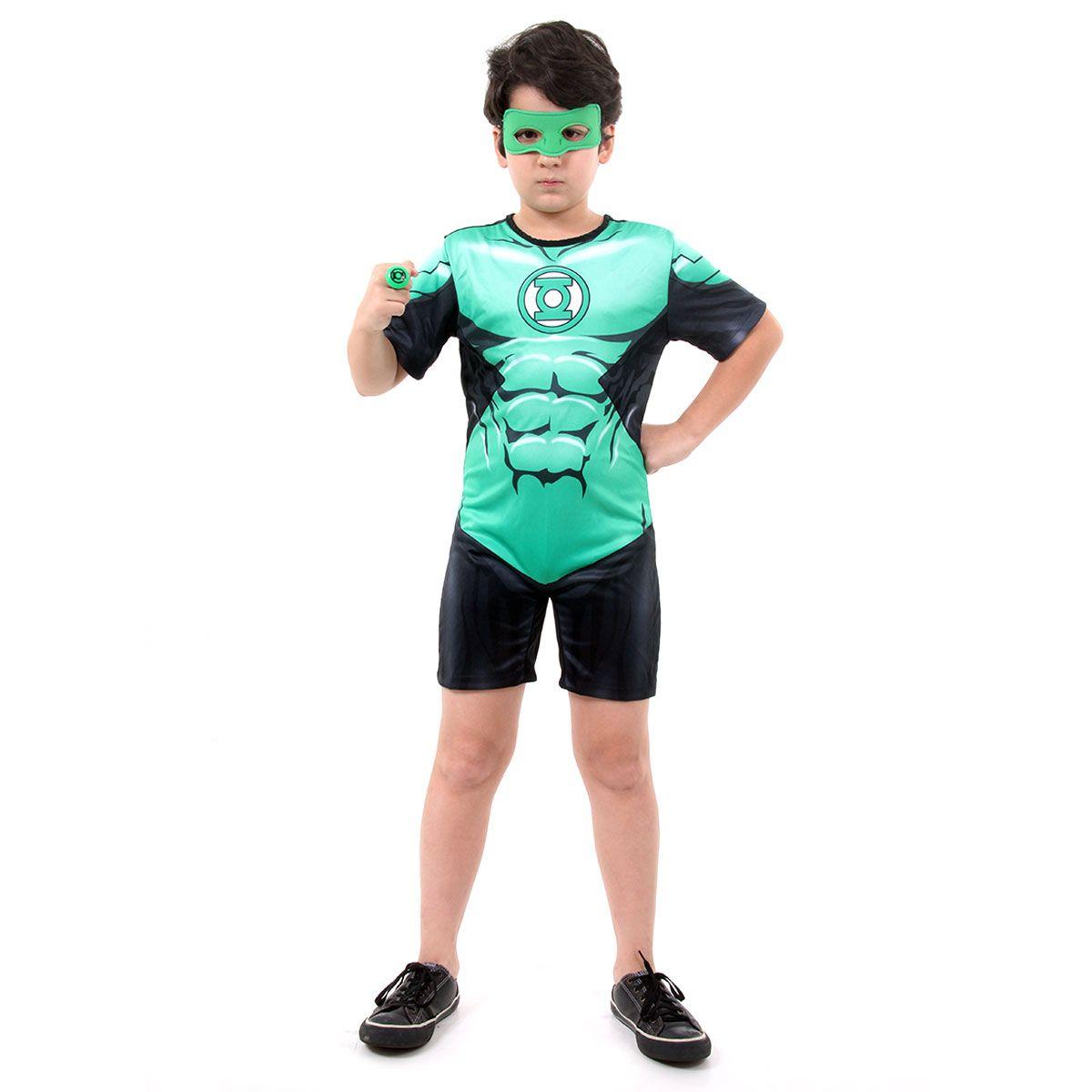 Fantasia Lanterna Verde Infantil