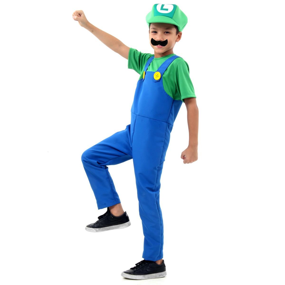 Fantasia Luigi Infantil Luxo