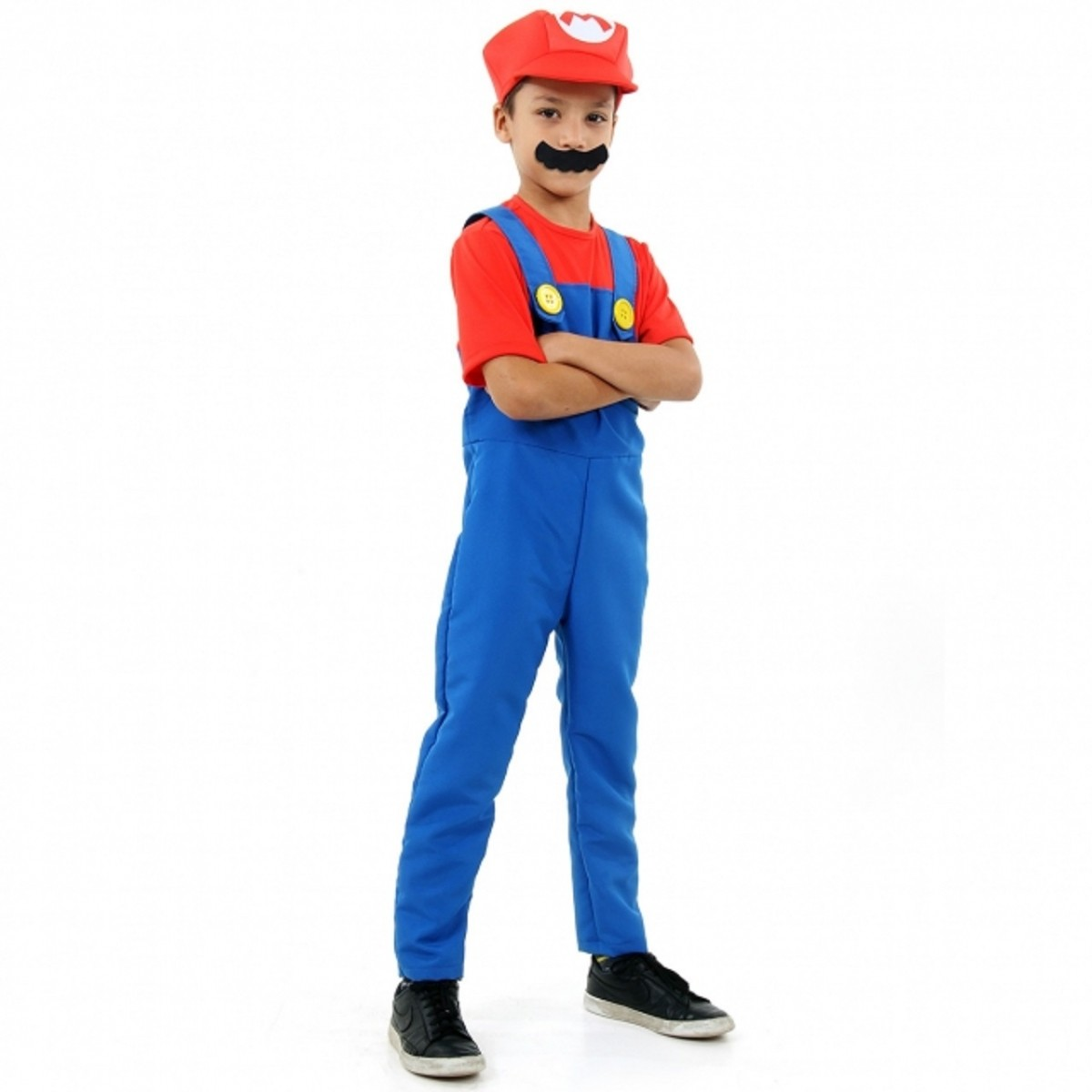 Fantasia Mario Bros Infantil Luxo