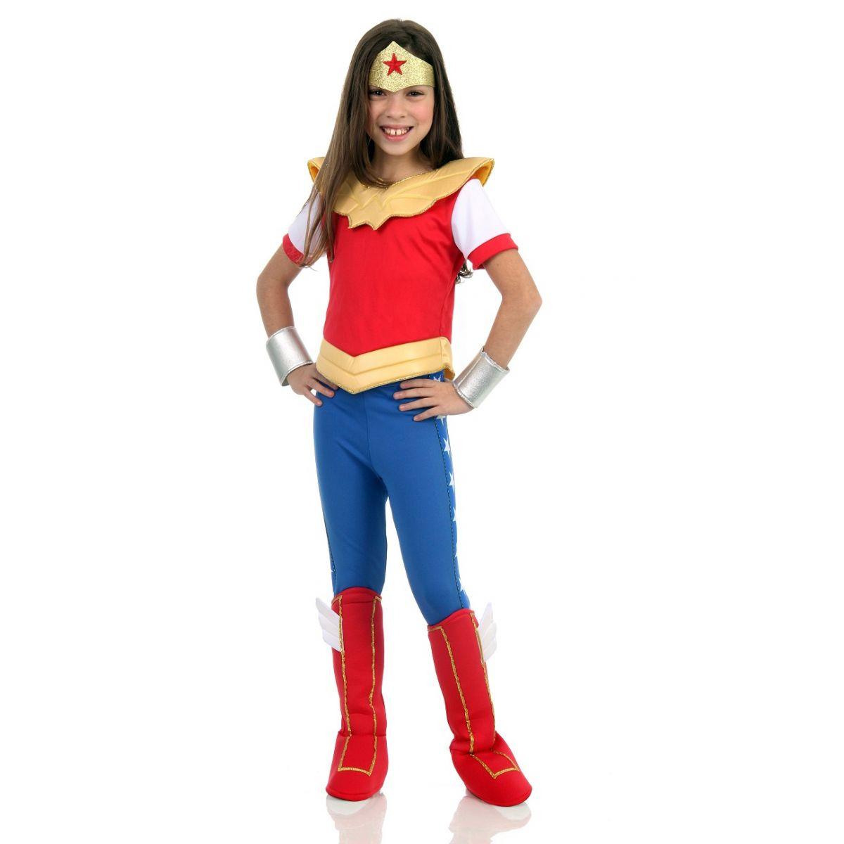 Fantasia Mulher Maravilha Infantil DC Super Hero Girls