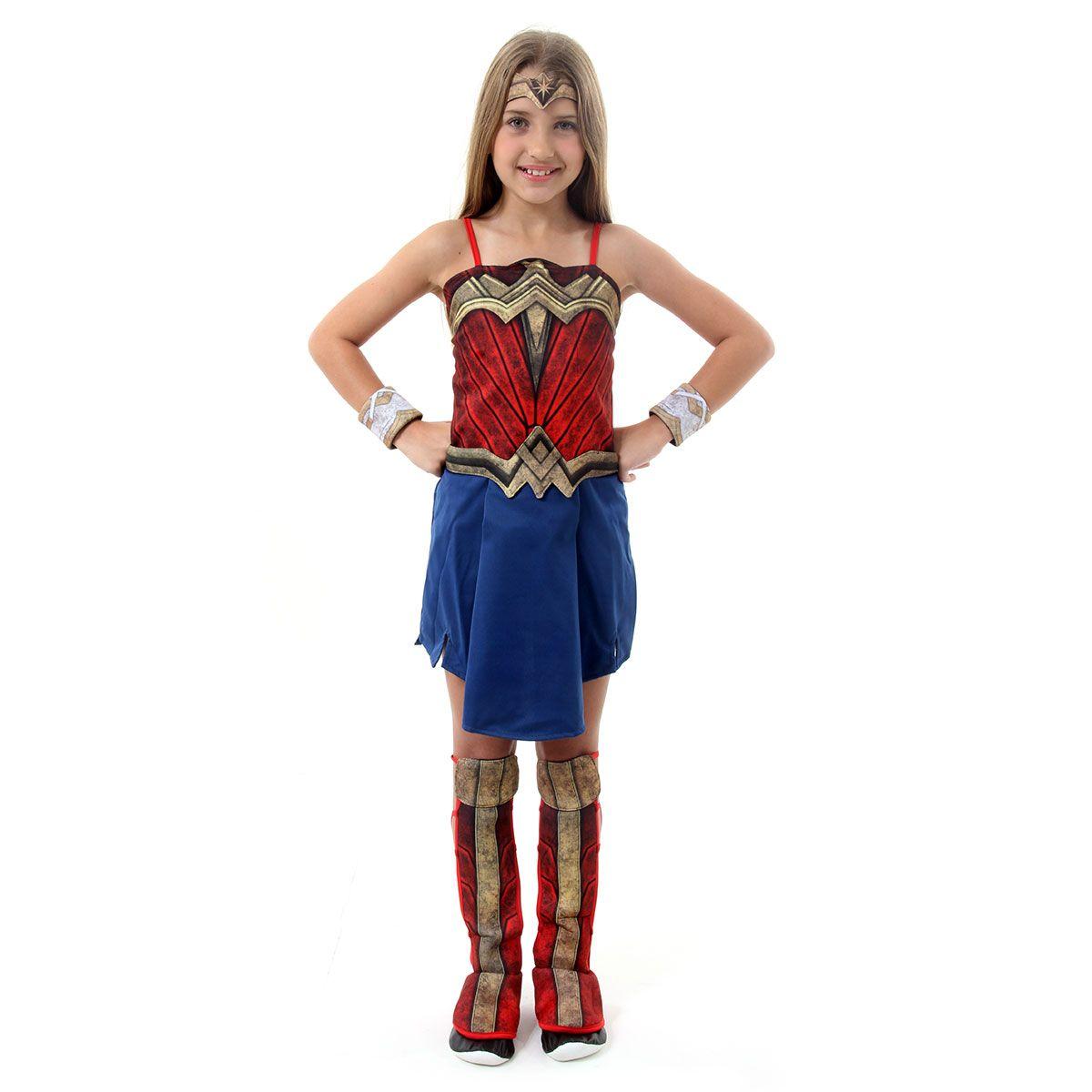 Fantasia Mulher Maravilha Infantil Filme Luxo