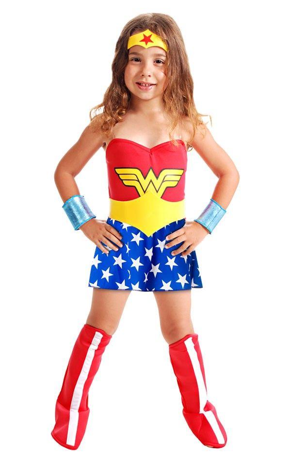 Fantasia Mulher Maravilha Infantil Standard
