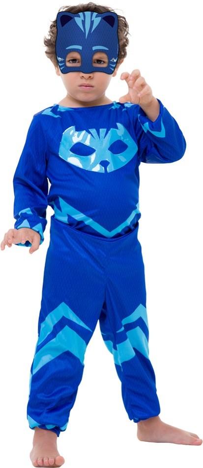 Fantasia PJ Masks Menino Gato Connor Infantil Longa