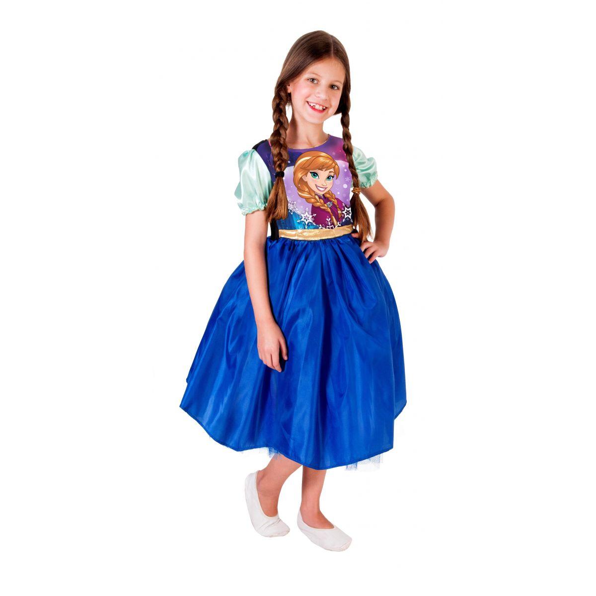 Fantasia Anna Frozen Infantil Vestido Standard Princesa Disney