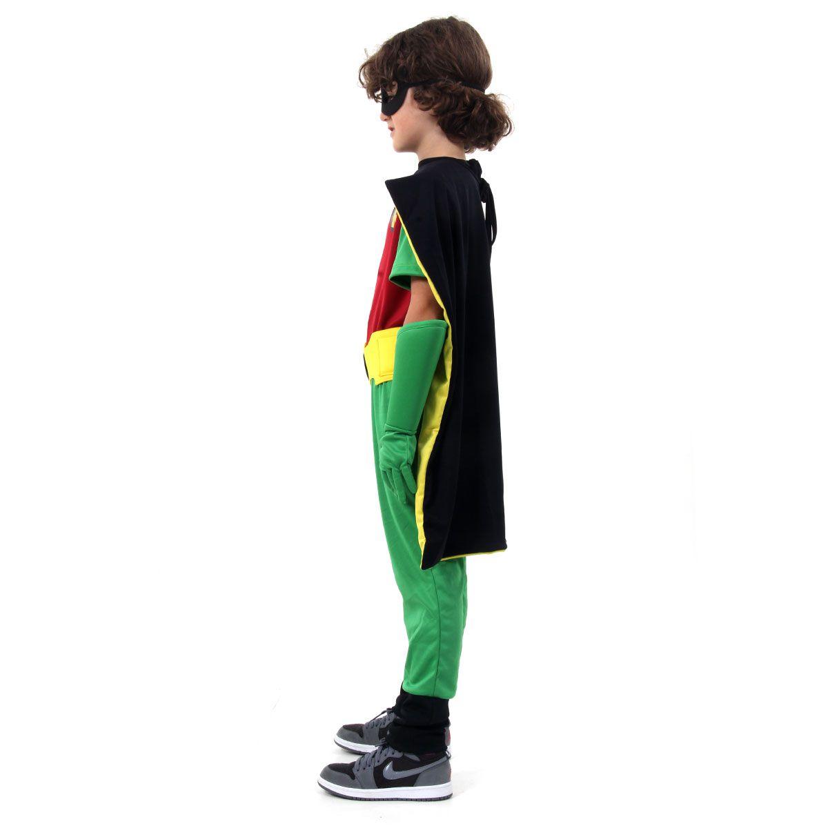 Fantasia Robin Titans Infantil Premium