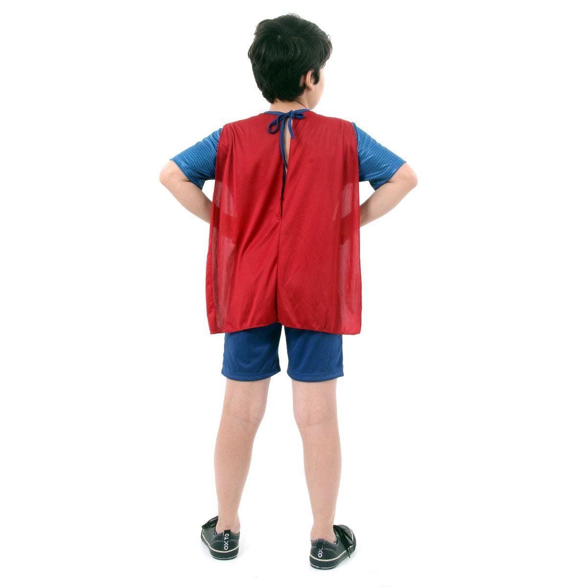 Fantasia Super Homem Infantil com Músculos