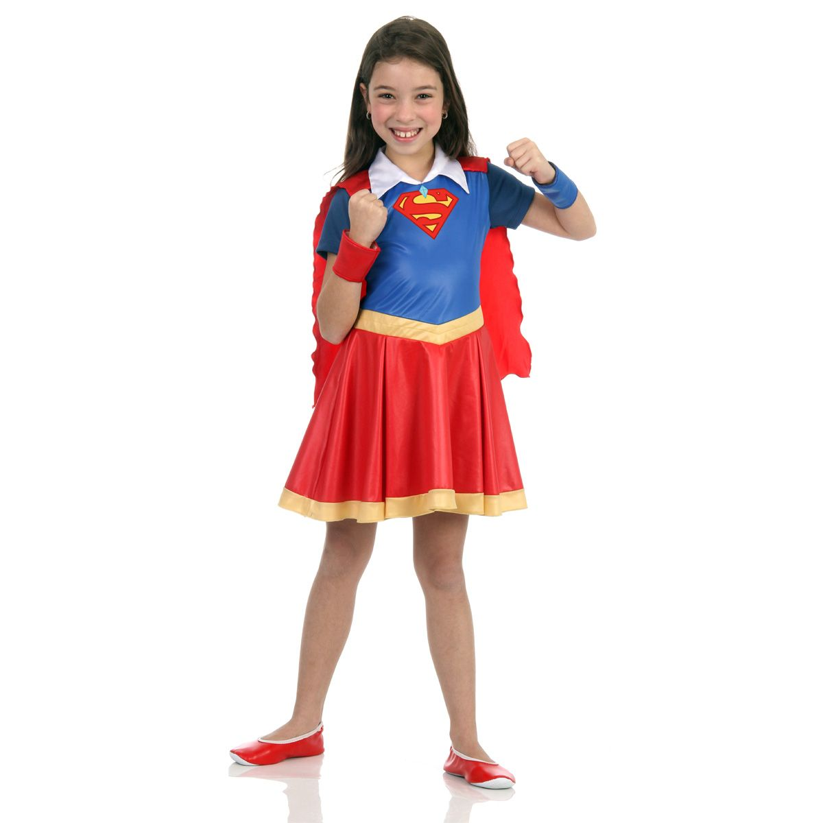 Fantasia Supergirl Infantil DC Super Hero Girls
