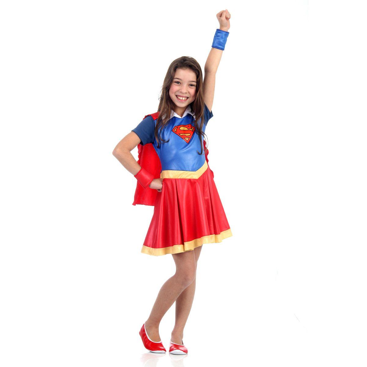 Fantasia Supergirl Infantil DC Super Hero Girls