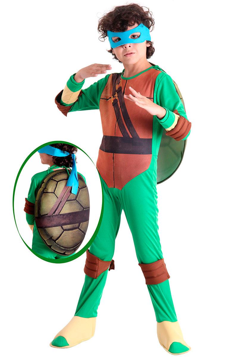 Fantasia Tartaruga Ninja Leonardo Infantil Luxo