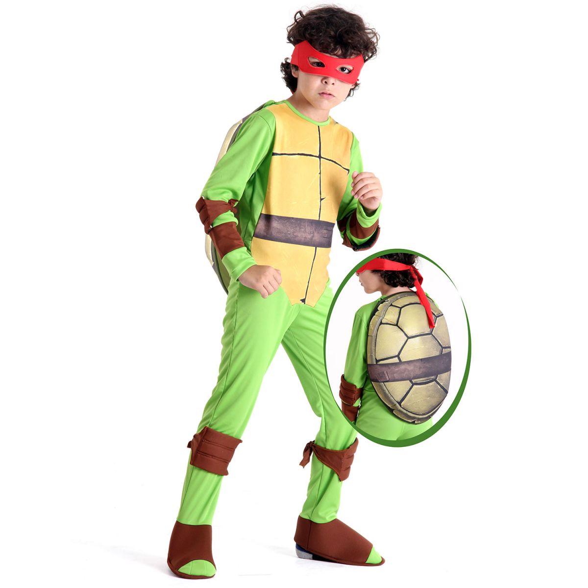 Fantasia Tartaruga Ninja Raphael Infantil Luxo