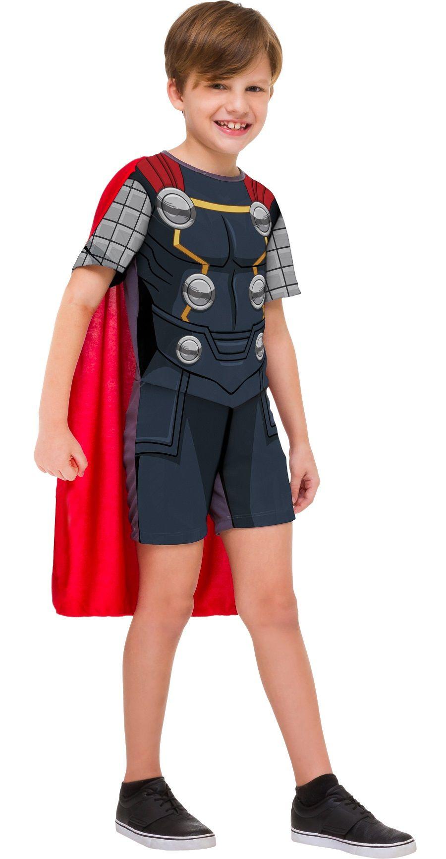 Fantasia Thor Infantil Curta com Martelo