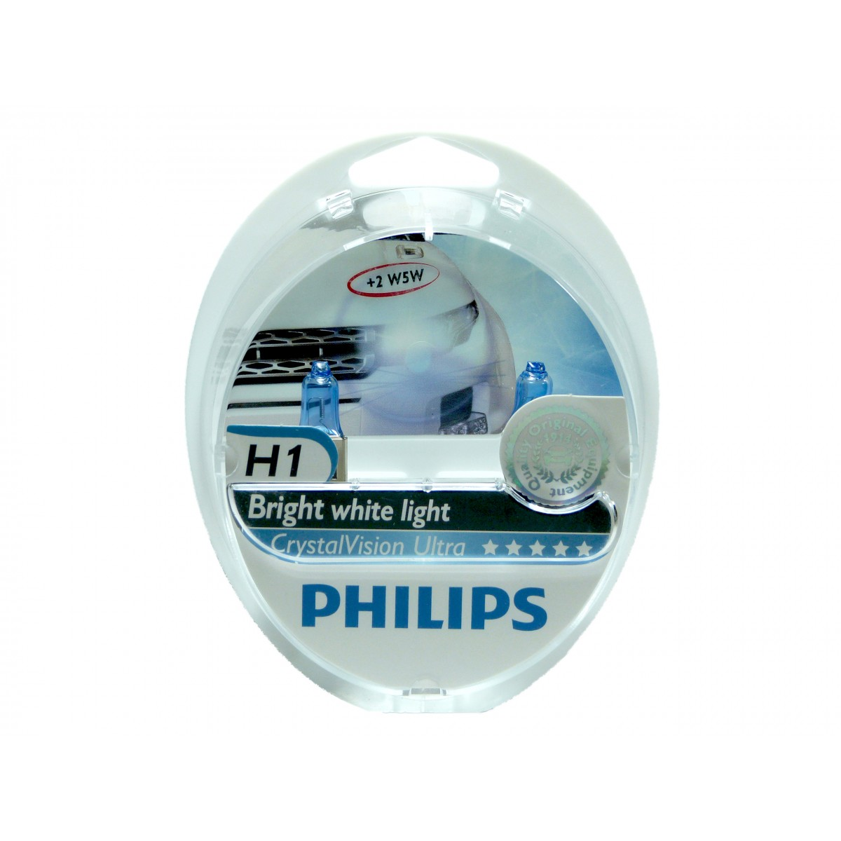 Kit Lampadas Philips Crystal Vision H1 Super Branca