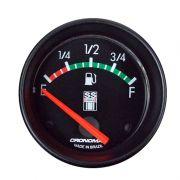Manômetro indicador Nível de Combustível Cronomac 60MM GM SS SERIES