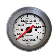 Manômetro Pressão de Combustível Cronomac 52MM  - Racing