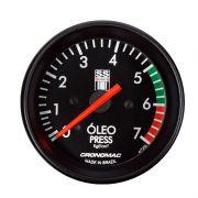 Manômetro Pressão de Óleo Cronomac  60MM GM SS SERIES