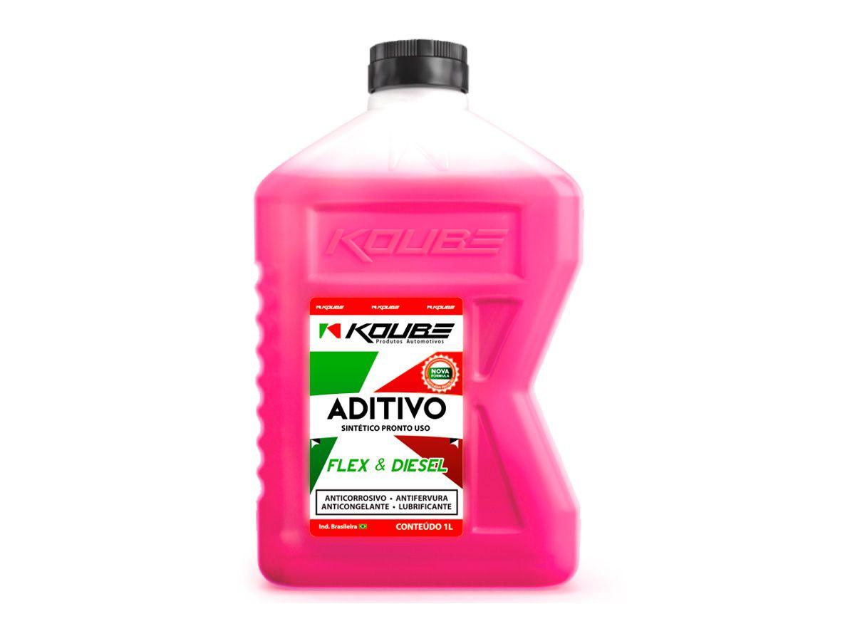 Aditivo Radiador Sintético Rosa Pronto Uso 1LT - KOUBE