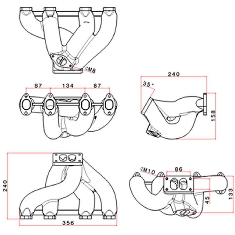 COLETOR VW AP 8V TMW 14 PULSATIVO SLIM