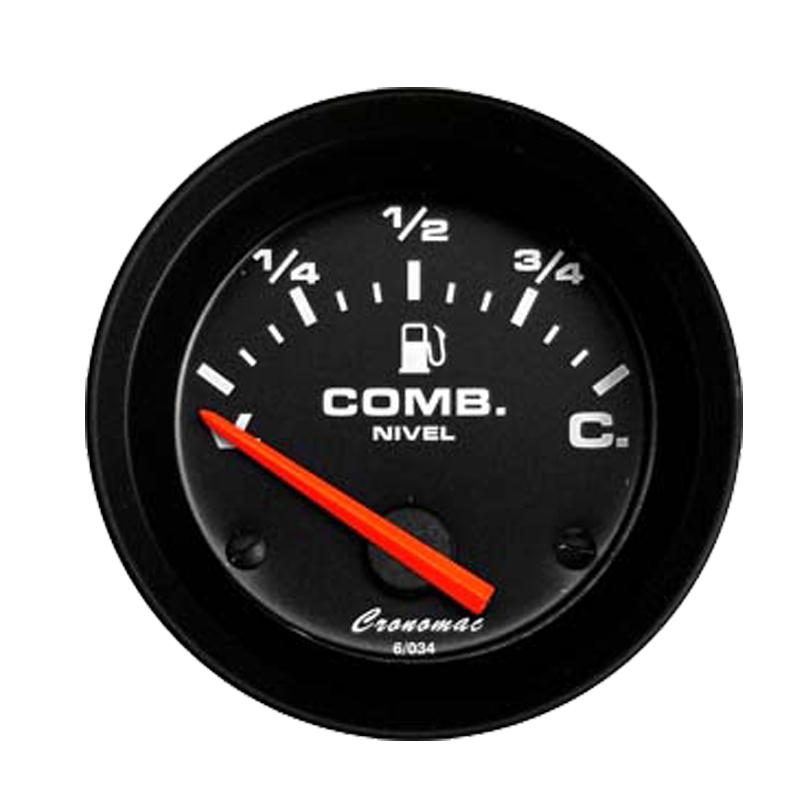 Manômetro indicador Nível de Combustível Cronomac 52MM  Street