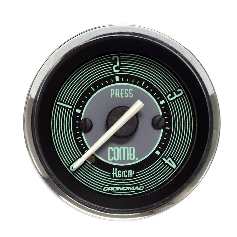 Manômetro Pressão de Combustível 52MM Volks Line - CRONOMAC