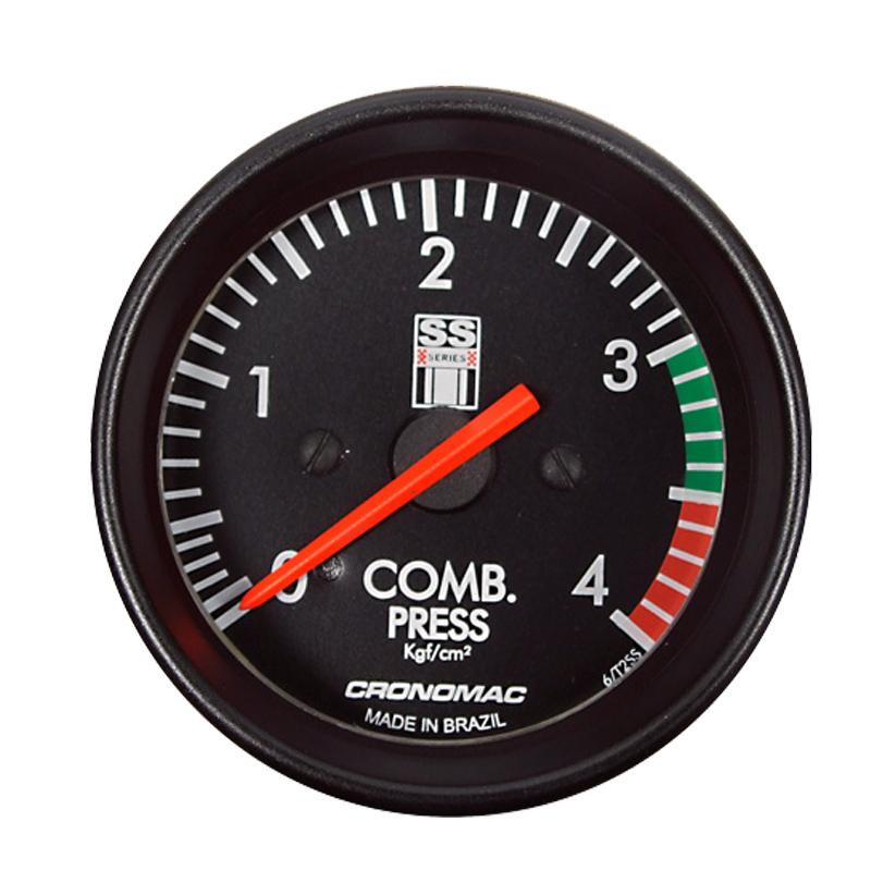 Manômetro Pressão de Combustivel Cronomac 60MM - GM SS SERIES