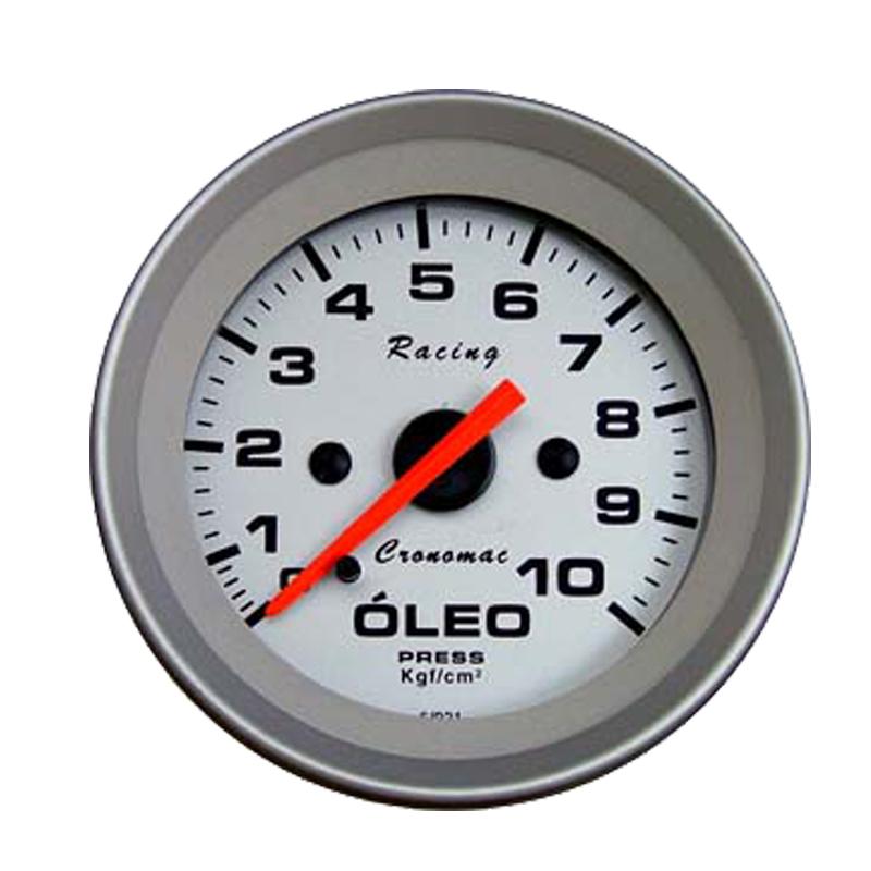 Manômetro Pressão de Óleo Cronomac 52MM Racing