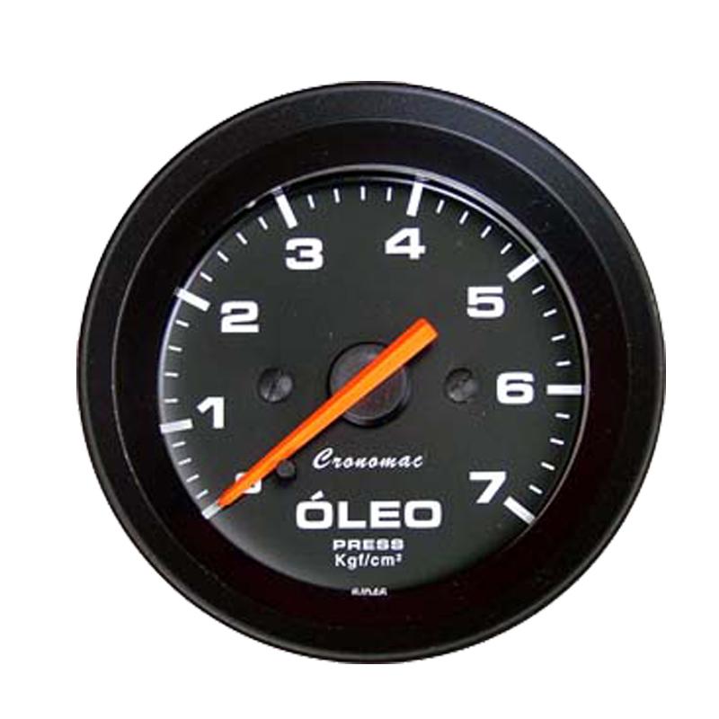 Manômetro Pressão de Óleo Cronomac 52MM  Street