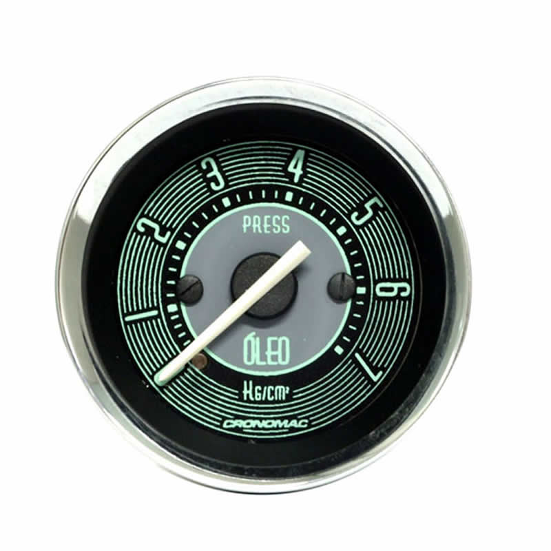 Manômetro Pressão de Óleo Cronomac 52MM  VW Volks Line