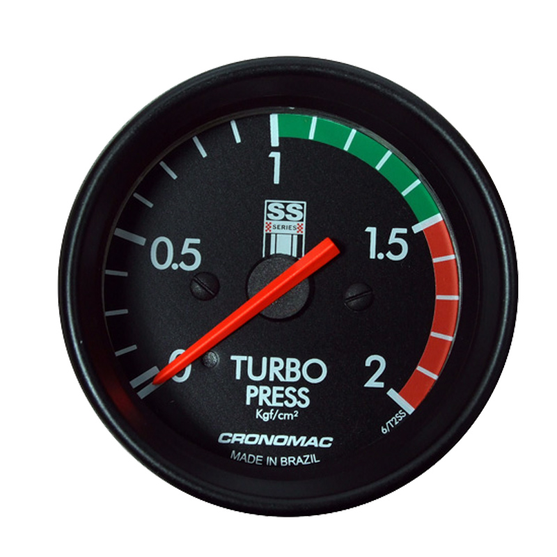 Manômetro Pressão Turbo 2KG Cronomac 60MM GM SS SERIES