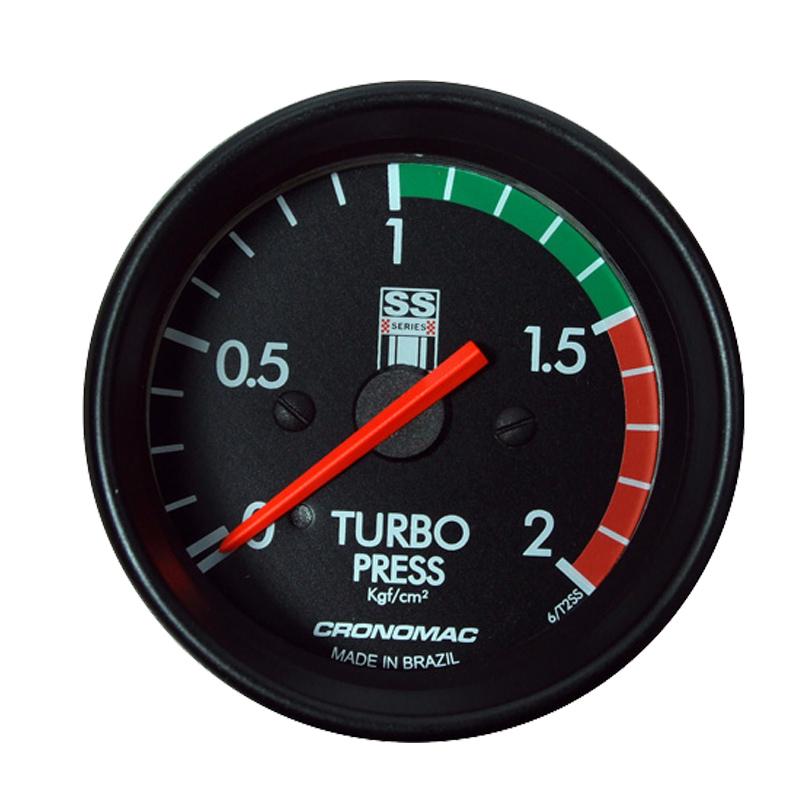 Manômetro Pressão Turbo 2KG Cronomac 60MM GM SS SERIES