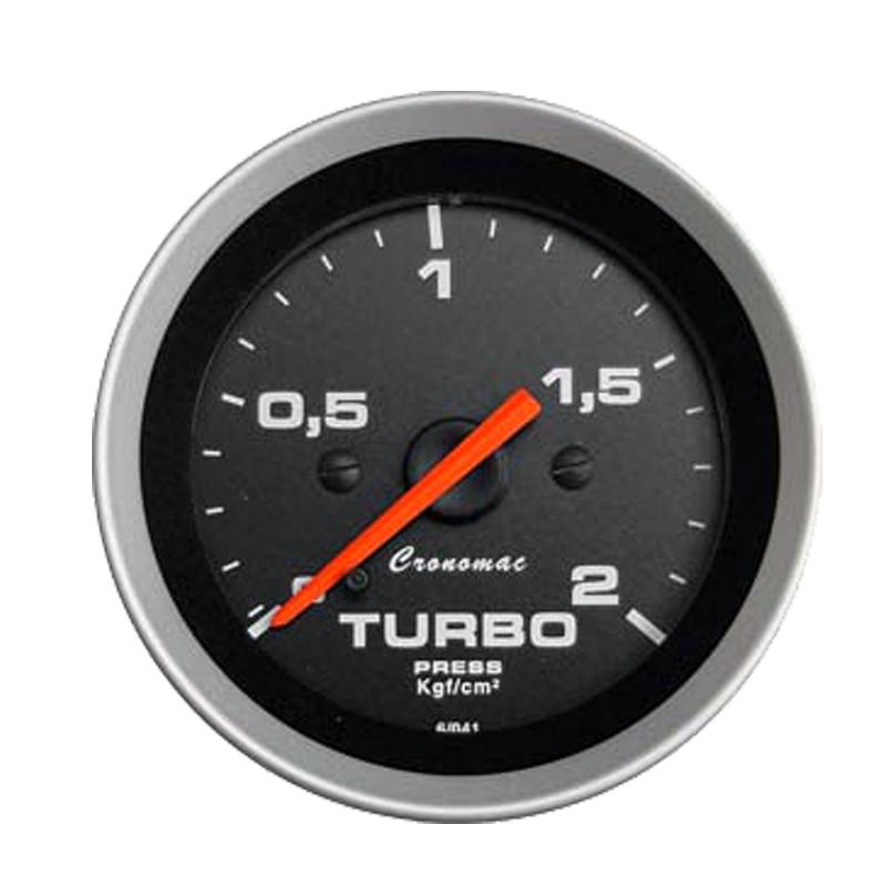 Manômetro Pressão Turbo Cronomac 52MM Sport