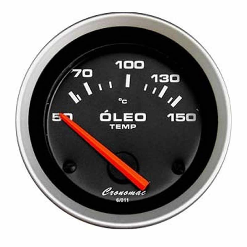 Manômetro Termômetro Elétrico de Óleo  Sport 52 MM Cronomac