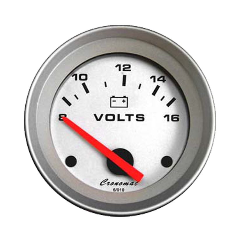 Manômetro Voltimetro Cronomac 52MM Racing