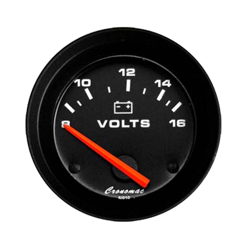 Manômetro Voltimetro Cronomac 52MM Street