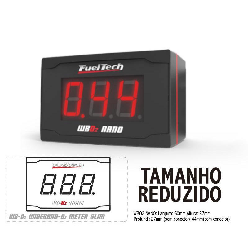 WIDE BAND O2 METER NANO FUELTECH - LSU 4.2 COM CHICOTE DE 2 METROS