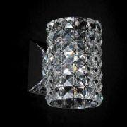 Arandela Gliss 12x14x16cm Metal e Cristal 1xG9, Cromado e Transparente