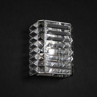 Arandela Recital Metal e Cristal 1xG9, Cromado e Transparente