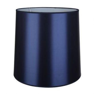 Cúpula Para Abajur Color em Metal Cromado - Cor Azul Marinho
