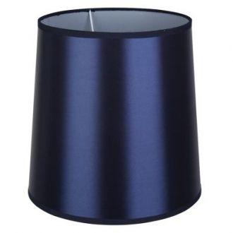 Cúpula Para Abajur Color Cônica em Metal Cromado - Cor Azul Marinho