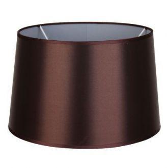 Cúpula Para Abajur Color Metal e Tecido - Cor Marrom